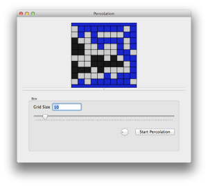 An OS X GUI for a Percolation example